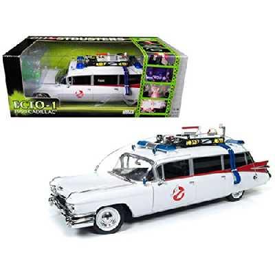 Auto World - Miniature Voiture Cadillac Ghostbusters Ecto 1 Echelle 1/21, AWSS118, Blanc