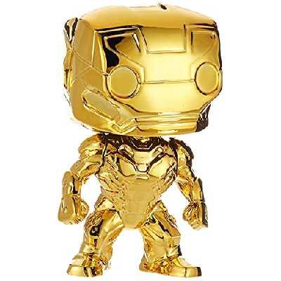 Funko Pop Figurine - Marvel - Marvel Studios 10 Iron Man Gold (Chrome) Multicolore One Size