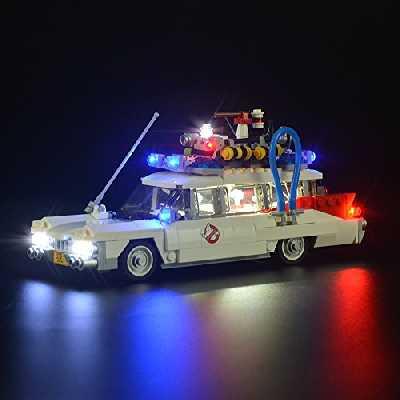 LIGHTAILING Jeu De Lumières pour (Ghostbusters Ecto-1) Modèle en Blocs De Construction - Kit De Lumière A LED Compatible avec Lego 21108(Ne Figurant Pas sur Le Modèle)