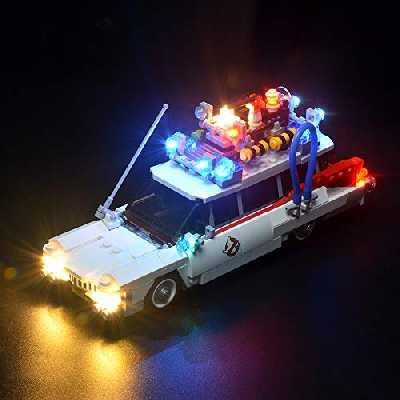 BRIKSMAX Kit de LED pour Ghostbusters Ecto-1, Compatible avec la Maquette Lego 21108, La Maquette de Construction n'est Pas Incluse