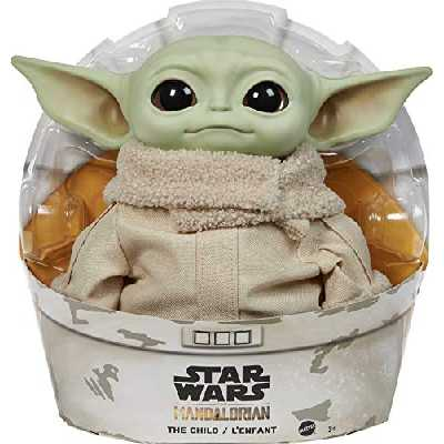 Mattel Star Wars The Mandalorian, Figurine Peluche The Child, Bébé Yoda, 28 cm, jouet collector, GWD85