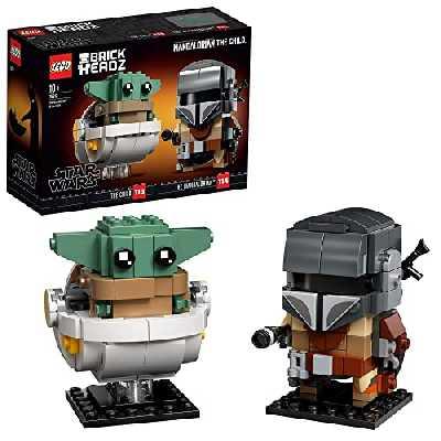 LEGO® BrickHeadz™ Star Wars™ Le Mandalorien et l'Enfant, Jeu de construction pour enfants et fans de Star Wars – Avec les personnages de The Child et The Mandalorian, 295 pièces, 75317