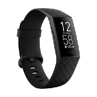 Bracelet d'Activité Fitbit Charge 4 pour La Santé et Le Sport avec Gps, Suivi de leNatation et Jusqu'à 7 Jours d'autonomie de Batterie