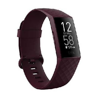 Bracelet d'Activité Fitbit Charge 4 pour La Santé et Le Sport avec Gps, Suivi de leNatation et Jusqu'à 7 Jours d'autonomie de Batterie, Bois de Rose