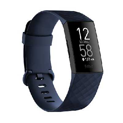 Fitbit Charge 4 Fitness Tracker Mixte Adulte, Bleu (Storm Blue), Taille Unique