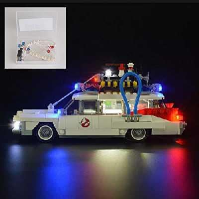 QJXF USB Light Set Compatible avec Lego Ghostbusters Ecto-1 21108, Light Kit LED pour (Ghostbusters Ecto-1) Blocs De Bâtiments (Non Inclus Modèle)