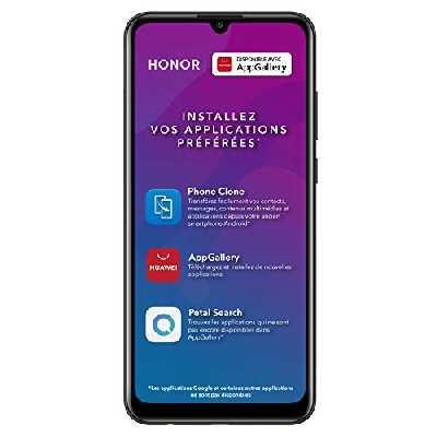 Honor 9A - Smartphone Débloqué 4G - (Ecran : 6,3 Pouces - 3Go RAM - 64Go ROM - Double Nano SIM - Android 10) Noir [Version Française]