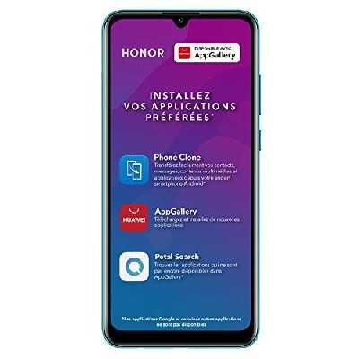 Honor 9A - Smartphone Débloqué 4G - (Ecran : 6,3 Pouces - 3Go RAM – 64 Go ROM - Double Nano SIM - Android 10) Bleu [Version Française]