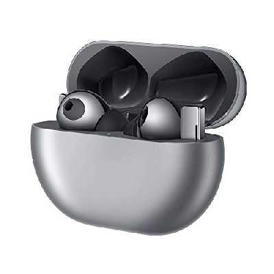HUAWEI FreeBuds Pro Casque sans Fil avec Fonction antibruit Active Intelligente (Connexion Bluetooth Ultra Rapide, Haut-Parleur 11 mm, Charge sans Fil) + Billet de 5 Euros sur Amazon, Silver Frost