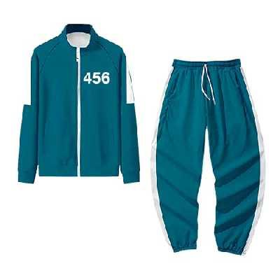 Squid Game 067 456 Survêtements Sweat à Capuche + Pantalon Ensemble Deux Pièces Manteaux Pullover Blouson Veste Tunique Sweatshirt Pull + Pantalon