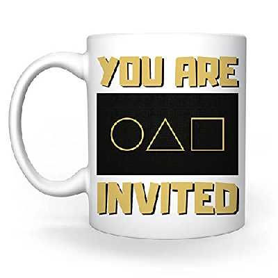 You Are Invited To Squid Game Blanc Tasse White Mug Cup