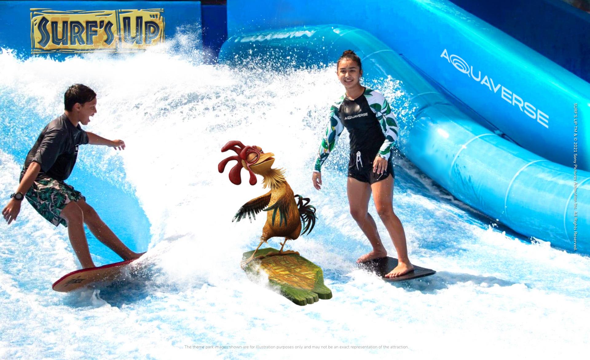 surf up parc sony aquaverse